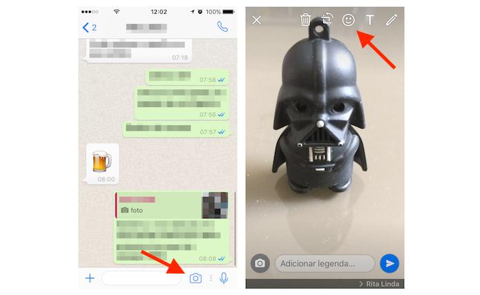 Como Adicionar Emojis Desenhos E Texto Em Fotos Enviadas