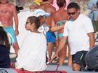 Ronaldo Fenômeno curte dia de sol com Paula Morais na Espanha