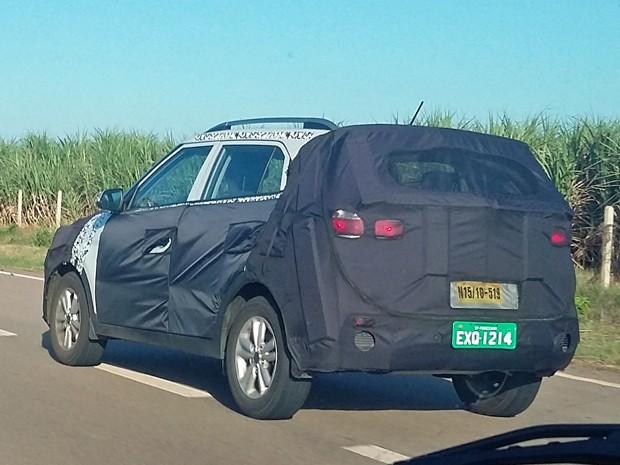 Hyundai ix25/Creta em testes no Brasil (Foto: Ezequiel Rojas / VC no G1)
