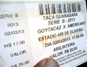 Ingresso Goytacaz x Americano Série B Carioca (Foto: Gustavo Rangel)