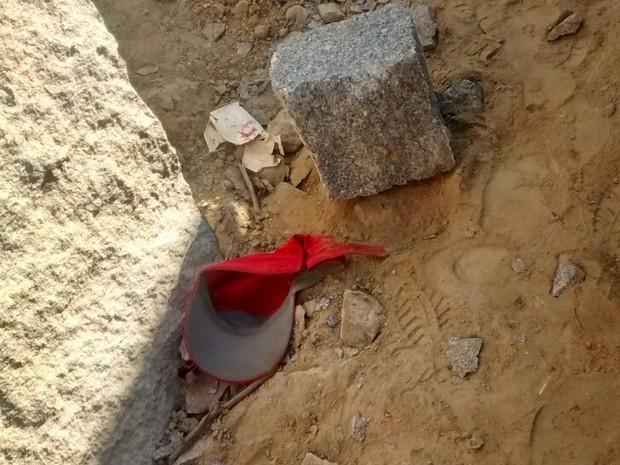 Corpo do adolescente foi encontrado em uma pedreira, em Itaporanga (Foto: Major Antônio Guedes / Polícia Militar)
