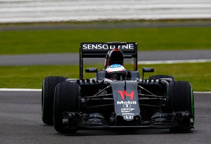Fernando Alonso testes Silverstone McLaren Formula 1 (Foto: Divulgação)