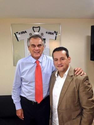 Vilson Ribeiro de Andrade, presidente do Coritiba, ao lado do empresário Marcos Malaquias (Foto: Reprodução/ Instagram)