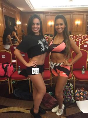 Amanda e Vera Lúcia foram selecionadas para a próxima fase  (Foto: Gabriel Fricke)