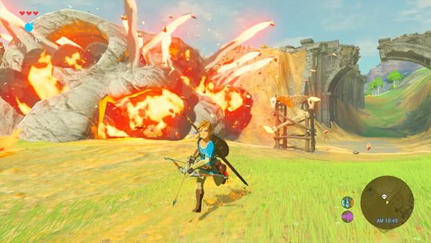 Em 'The Legend of Zelda: Breath of the Wild', série acontece pela primeira vez em um mundo aberto (Foto: Nintendo via AP)