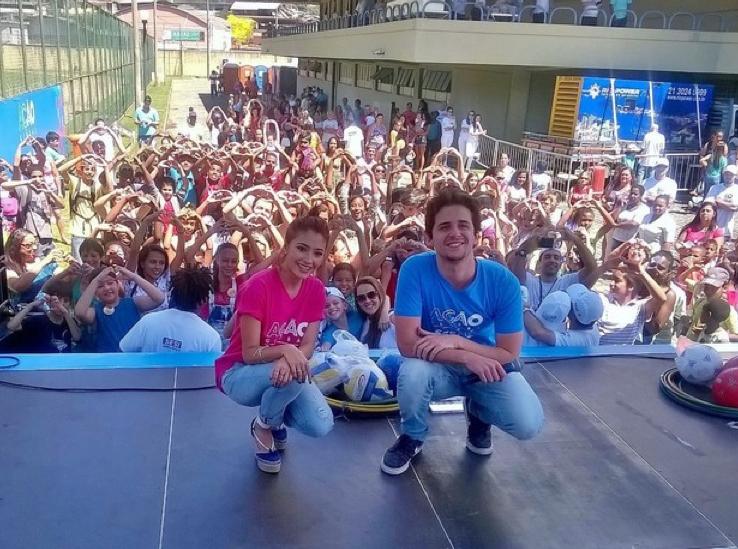 Atores de I Love Paraisópolis animaram o mutirã da cidadania (Foto: Divulgação)