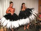 Após roubo, irmãs Minerato mostram preparação para o desfile