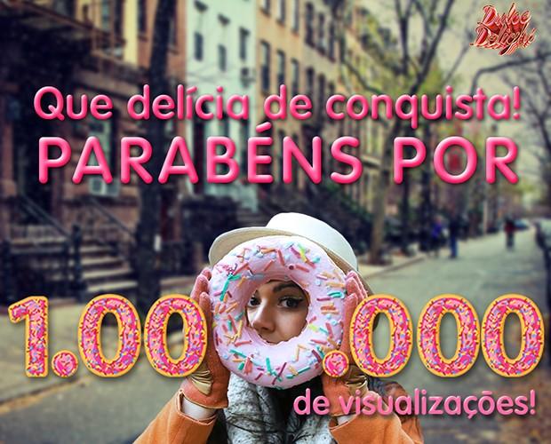 Dulce Delight completa 1 milhão de visualizações e todos comemoram (Foto: Gshow)