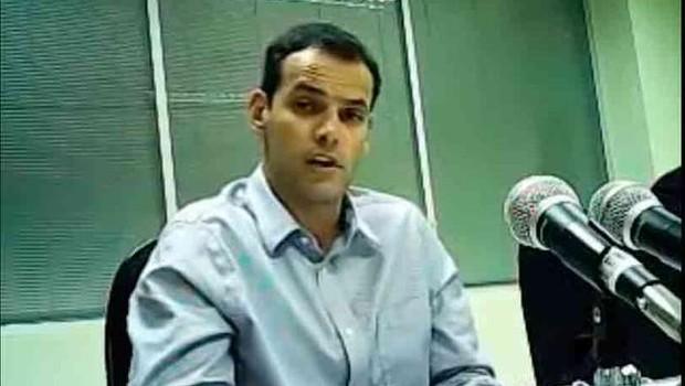 Guilherme Paschoal, ex-diretor da Odebrecht Ambiental durante depoimento a Lava Jato (Foto: Reprodução/TV Globo)