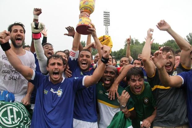 Futebol de artistas na Rússia (Foto: Cleomir Tavares / Divulgação)