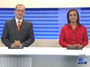 Gilvan Nunes e Liara Nogueira apresenta o Bom Dia Alagoas (Foto: Reprodução/ TV Gazeta)