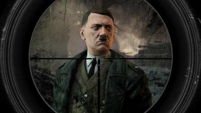 Hitler é alvo dos gamers em uma missão (Foto: Divulgação)