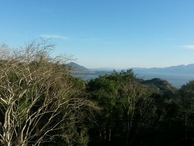 Em Florianópolis, umidade relativa do ar chegou a 17% nesta quarta (14) (Foto: Mariana Faraco/G1)