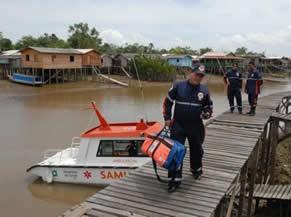 Ambulancha: unidade atende comunidades ribeirinhas (Foto: Ascom/Ministério da Saúde)