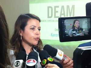 Delegada Karen Lopes foi à Bahia para buscar suspeito (Foto: Igor Jácome/G1)