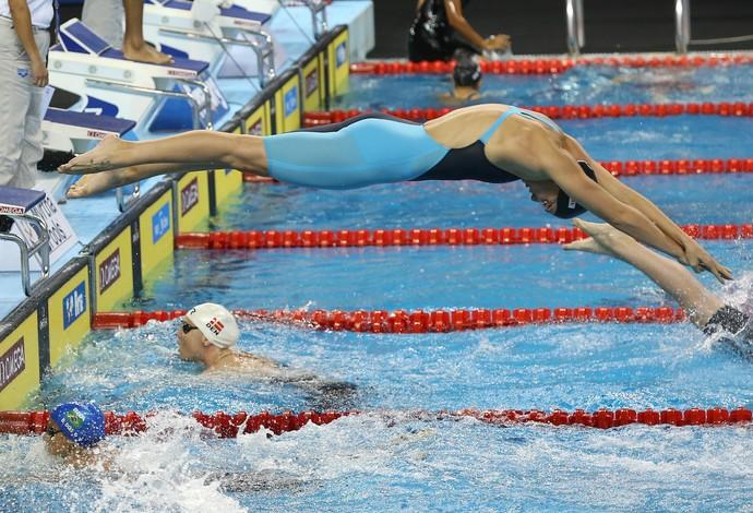 Revezamento 4x50m feminino - Mundial de Doha (Foto: Satiro Sodré/SSPRESS)