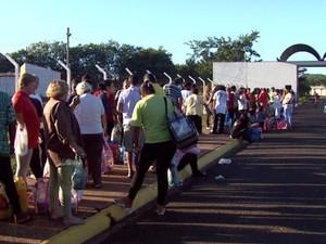 Apesar da greve, visita à P1, em Itirapina, correu sem transtornos (Foto: Rodrigo Sargaço/EPTV)