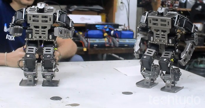 Equipe de robótica da PUC projeta robôs prontos para o futuro (Foto: Isabela Giantomaso/TechTudo)