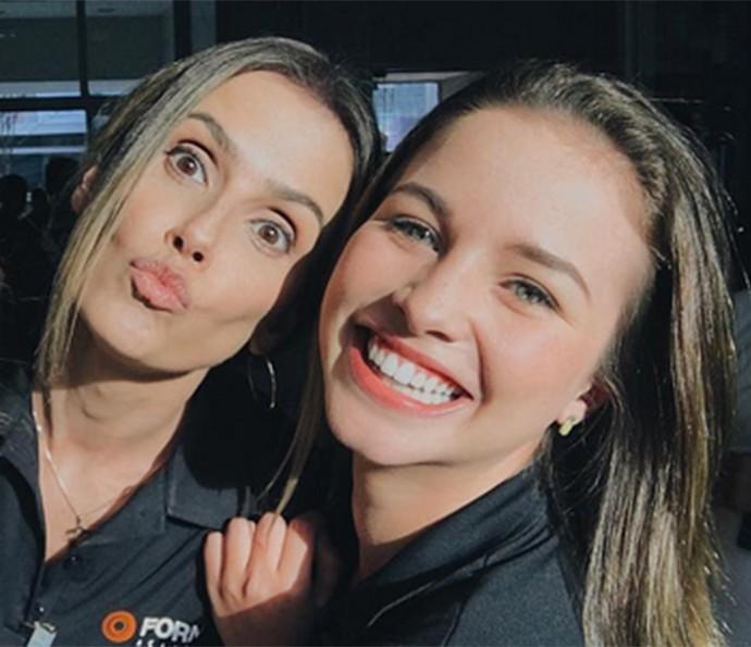 Deborah Secco e Laryssa Ayres (Foto: Arquivo Pessoal)