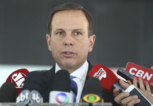 O prefeito eleito de São Paulo, João Doria , durante entrevista coletiva (Foto: Valter Campanato/Agência Brasil)