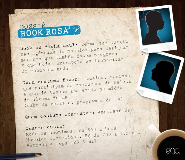 Dossiê Book Azul (Foto: Ego)