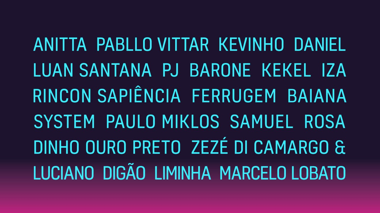Line Up Final (Foto: Divulgao/ Multishow)