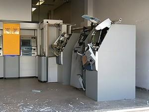 Explosão Caixa Eletrônico Uberlândia Bairro Brasil  (Foto: Reprodução/ TV Integração)