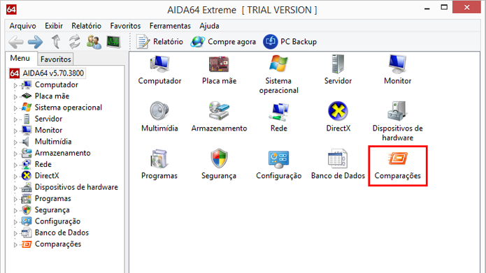 Programa possui ferramentas de testes para descobrir dados do computador (Foto: Reprodução/AIDA64)