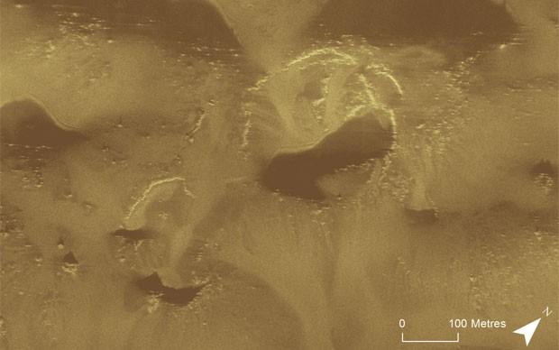 Representação computadorizada do fundo marinho onde são feitas as buscas pelo MH370 foi divulgada pelo Escritório Australiano de Segurança no Transporte (ATSB, na sigla em inglês) (Foto: Divulgação/ATBS)