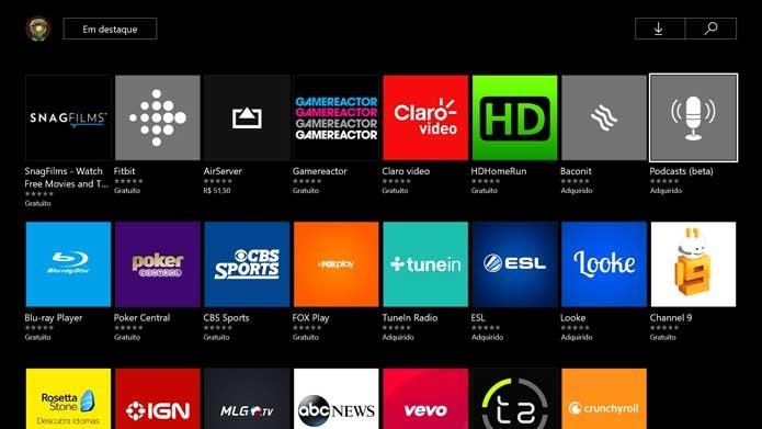 Xbox One: como baixar e ouvir podcasts no console (Foto: Reprodução/Murilo Molina)