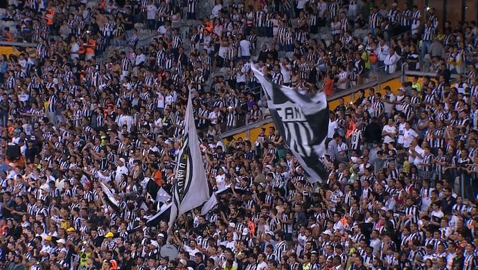 Torcida Atlético-MG Mineirão (Foto: Reprodução/ TV Globo)