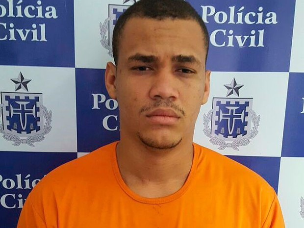 Marco Aurélio foi preso por morte da namorada em Itapuã, em Salvador.  (Foto: Polícia Civil / Divulgação)