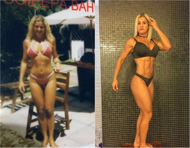 Antes e depois de Karen Domingos  (Foto: Arquivo Pessoal)