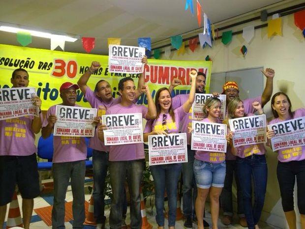 Reitoria da UFS é ocupada pelos manifestantes (Foto: Sintufs/Divulgação)