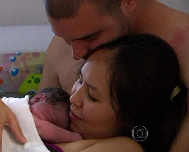Família optou por parto humanizado para a chegada do segundo filho (Foto: Mais Você / TV Globo)