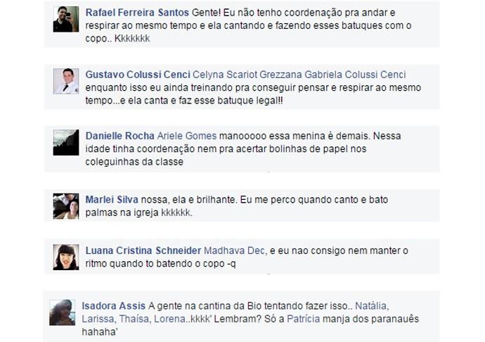 The Voice Kids - Veja os comentários mais engraçados sobre o vídeo 'Cup Song', da paranaense Rafa Gomes (Foto: Reprodução)