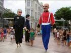 Bonecos gigantes do carnaval de Olinda e Recife têm novas caras
