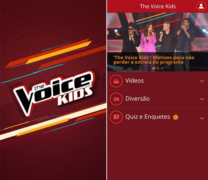 Aplicativo The Voice Kids (Foto: Gshow)