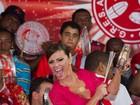 Viviane Araújo anima ensaio do Salgueiro