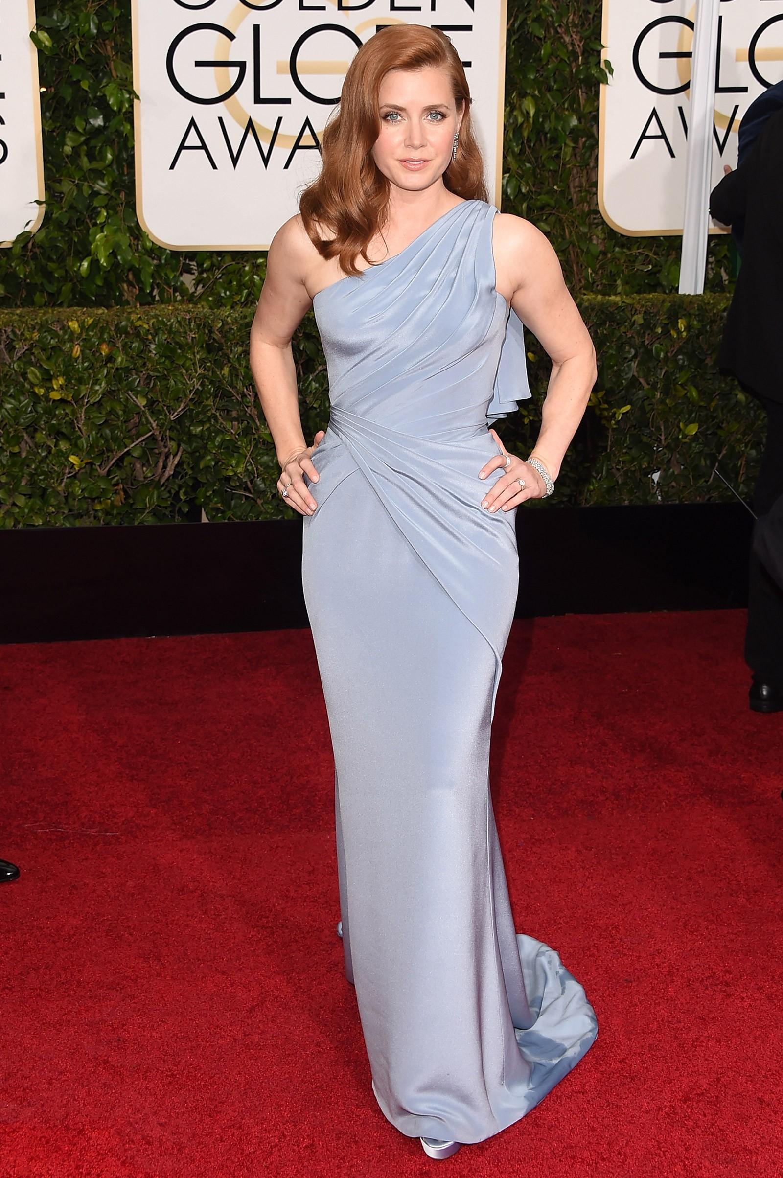 2014 - melhor atriz de comédia ou musical para Amy Adams, que vestiu Versace (Foto: Getty Images)