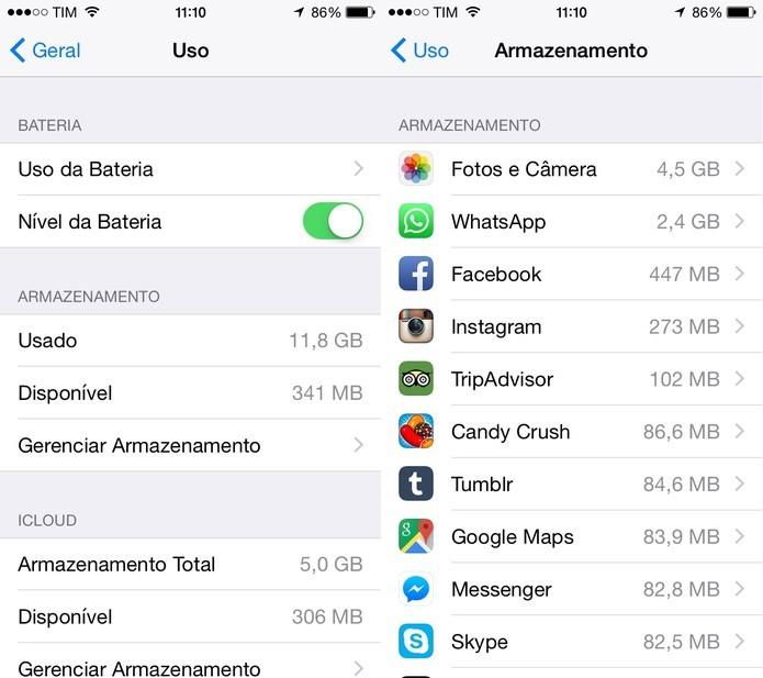 Delete aplicativos que você não utiliza tanto (Foto: Reprodução/Juliana Pixinine)