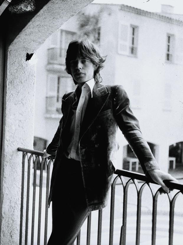 Mick Jagger em 1971: o rock star sempre foi da clientela do Byblos (Foto: Claude Dronsart/Divulgação)