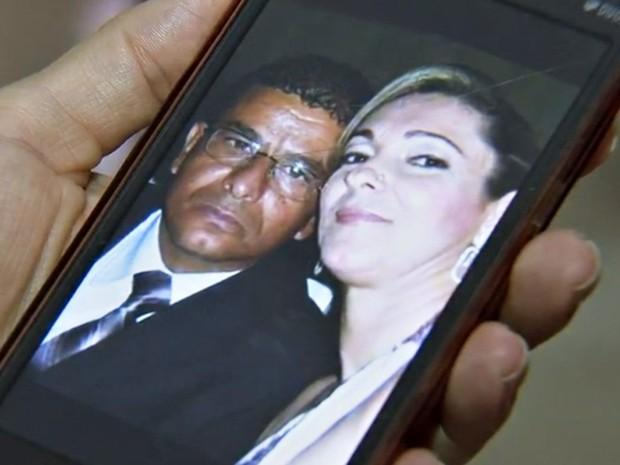 Márcia e Odair em uma das últimas fotos tiradas por eles (Foto: Reprodução / TV TEM)