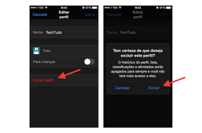 Excluindo um perfil de uma conta do Netflix pelo celular (Foto: Reprodução/Marvin Costa)