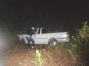 Saveiro era resgatada por guincho quando houve atropelamento na RN-041 (Foto: Jaime Júnior/soldado da Polícia Militar)
