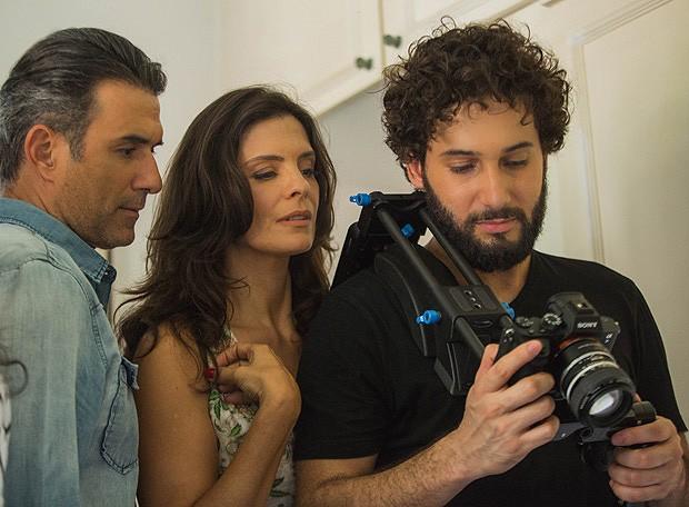 Marcos Pasquim, Helena Ranaldi e Rafael Almeida (Foto: Yam Griffo/Camila Novo Assessoria / Divulgação)