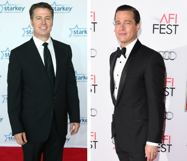 Doug Pitt e seu irmão famoso, Brad Pitt (Foto: Getty Images)
