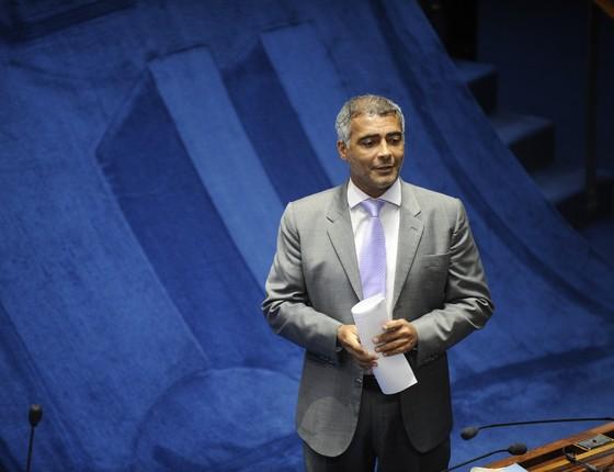 O senador Romário (PSB-RJ), em foto de 2015 (Foto: Jefferson Rudy/Agência Senado)