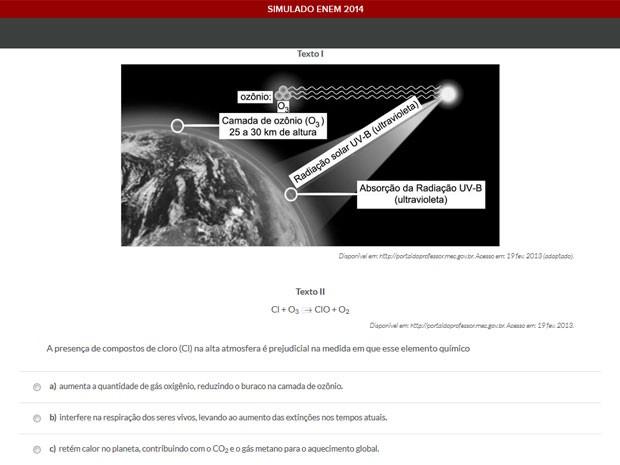 Simulado final do Enem está no ar com questões preparadas ao estilo da prova do MEC (Foto: Reprodução/Geekie Games)