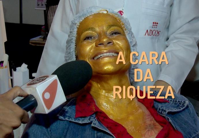A máscara é feita de ouro (Foto: Divulgação / TV Gazeta ES)